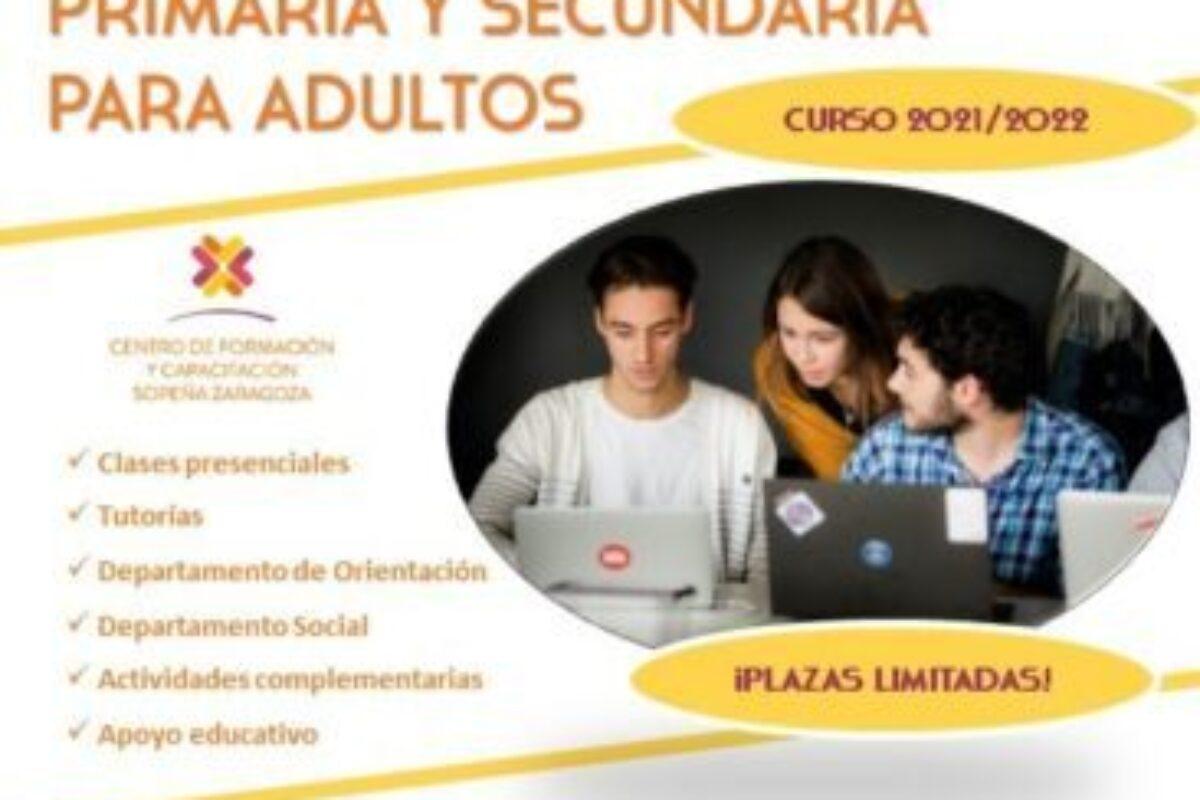 PRIMARIA Y SECUNDARIA PARA ADULTOS CURSO 2021/2022
